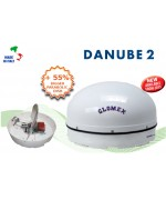 DANUBE 2 - R500 - Satellite TV Antenna for river boat, 58x32cm