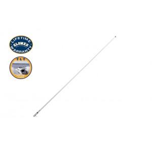 RA1206CR - 2,4m MARINE VHF ANTENNA wirth chromed ferrule