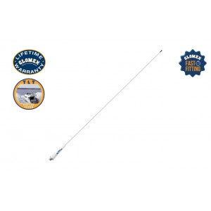 RA106SLSFME - Glomeasy line VHF Antenna, 90cm - stainless steel whip - FME term.